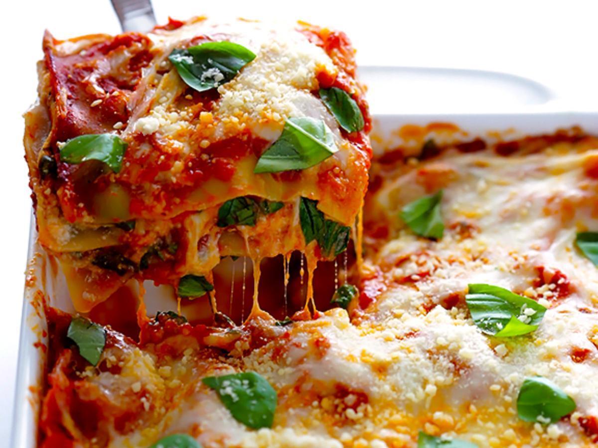 10-Minute Spinach Lasagna Healthy Recipe