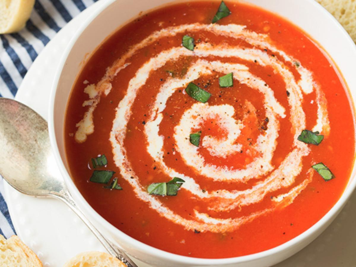 6-Ingredient Tomato Soup Healthy Recipe