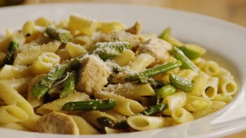 Chicken Asparagus Tossed Penne Healthy Recipe