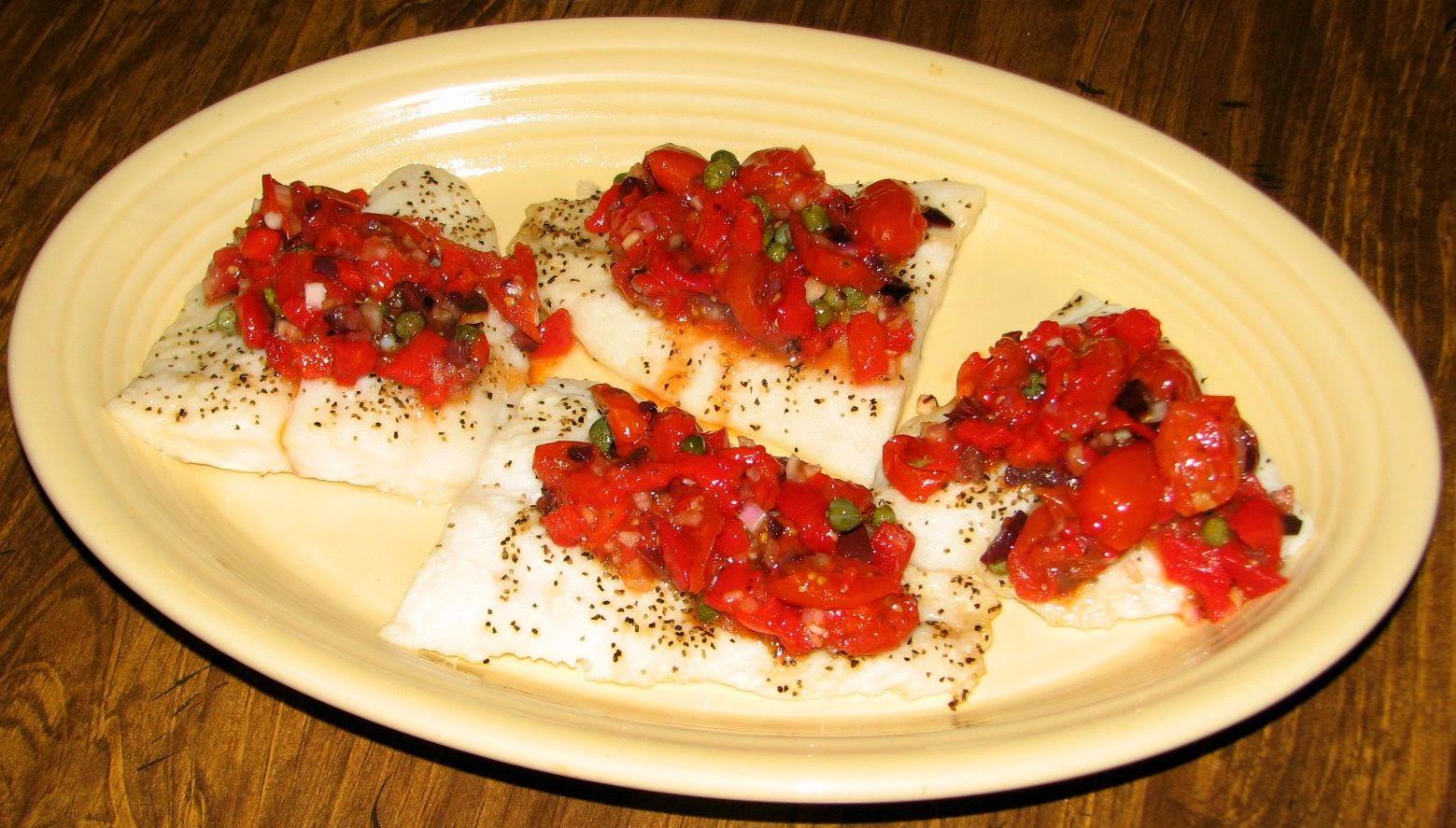 White Fish Cherry Tomatoes Healthy Recipe