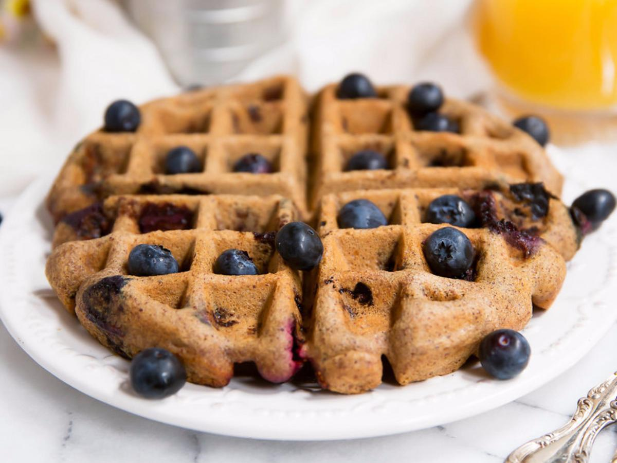 Almond Butter Paleo Blueberry Waffles Healthy Recipe