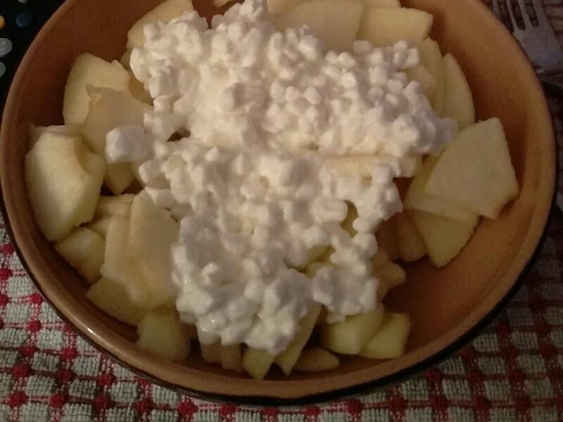 Apple, Cottage Cheese, and Cinnamon Snack Healthy Recipe