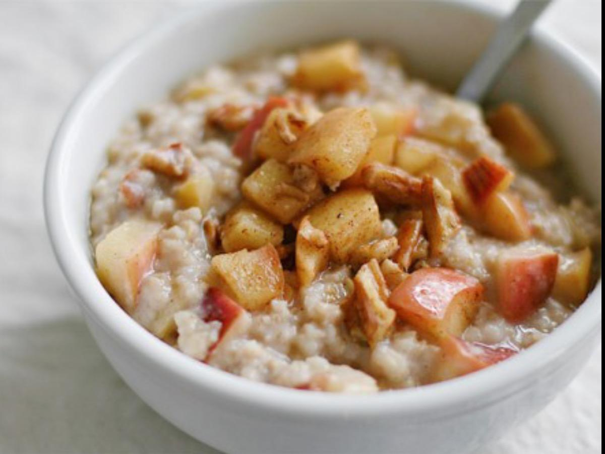 Apple Pecan Steel Cut Oats Healthy Recipe