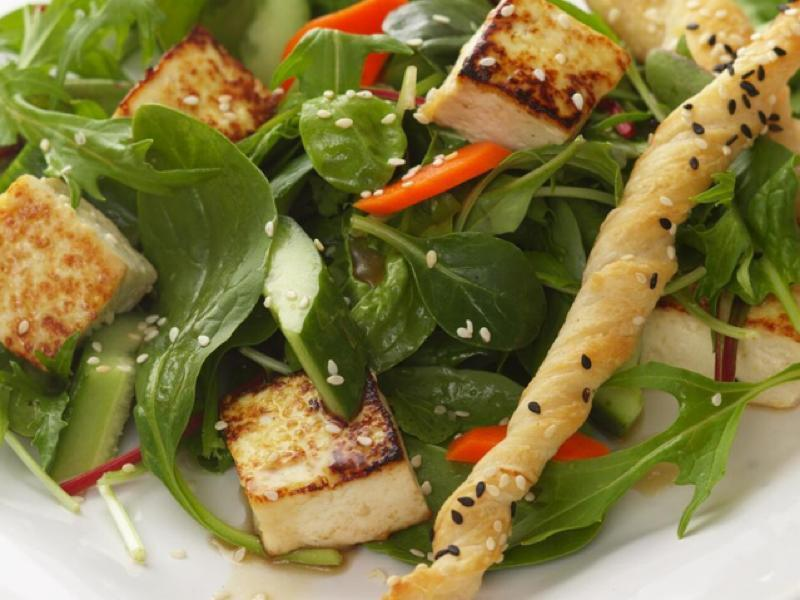 Asian Tofu Salad Healthy Recipe
