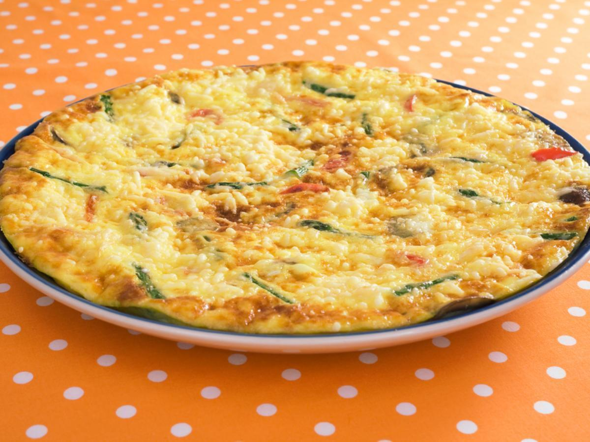 Asparagus, Fontina and Tomato Frittata Healthy Recipe