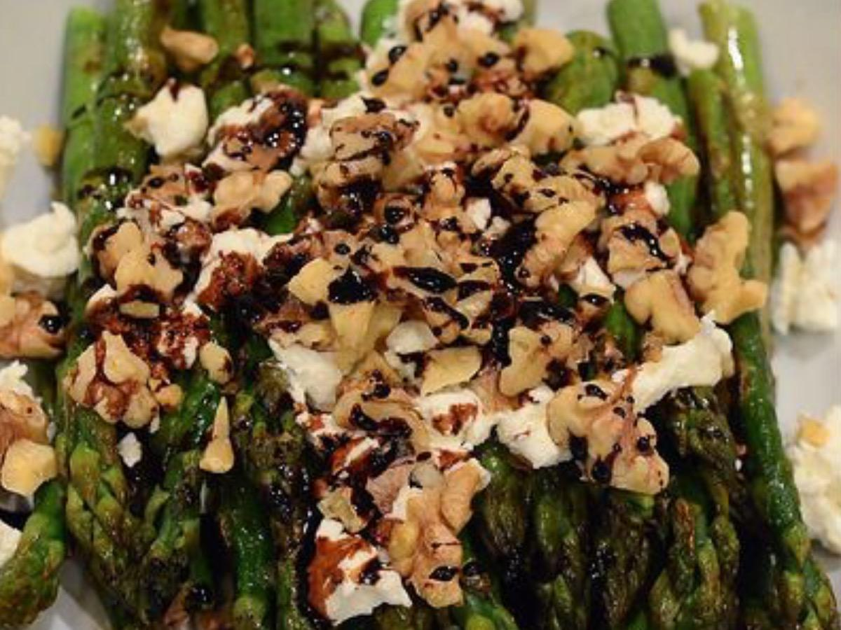 Asparagus Walnut Salad Healthy Recipe