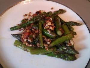 Asparagus with Sliced Almonds and Parmesan Cheese Healthy Recipe