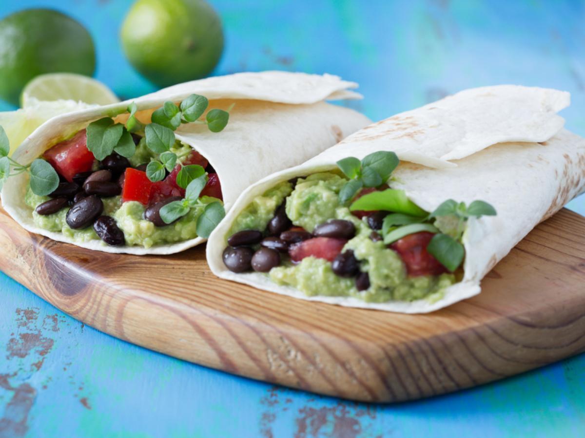 Avocado and Black Bean Wrap Healthy Recipe