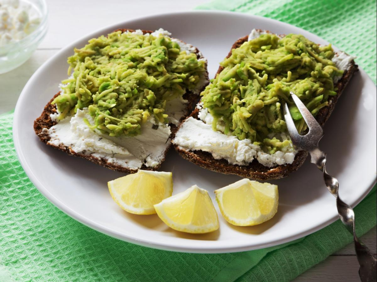 Avocado and Cottage Cheese Toast Healthy Recipe