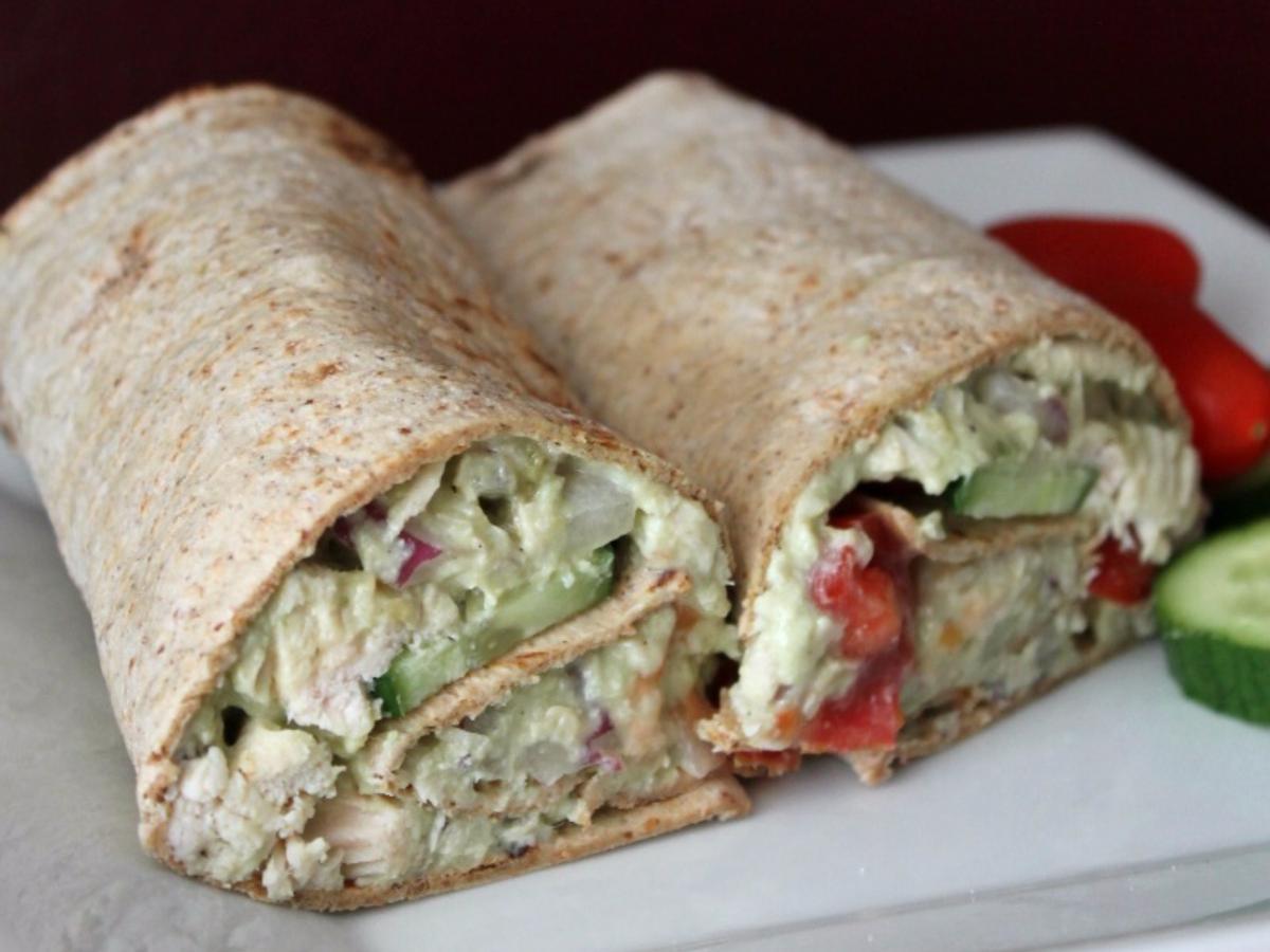 Avocado and Greek Yogurt Chicken Salad Healthy Recipe