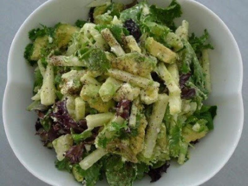 Avocado-Goat Cheese Salad with Lime Dressing Healthy Recipe