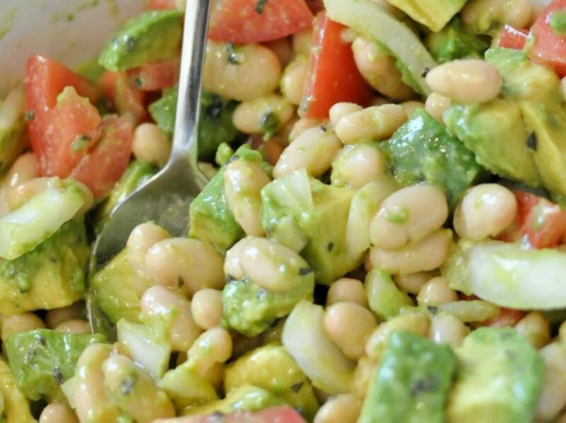 Avocado & White Bean Salad Healthy Recipe