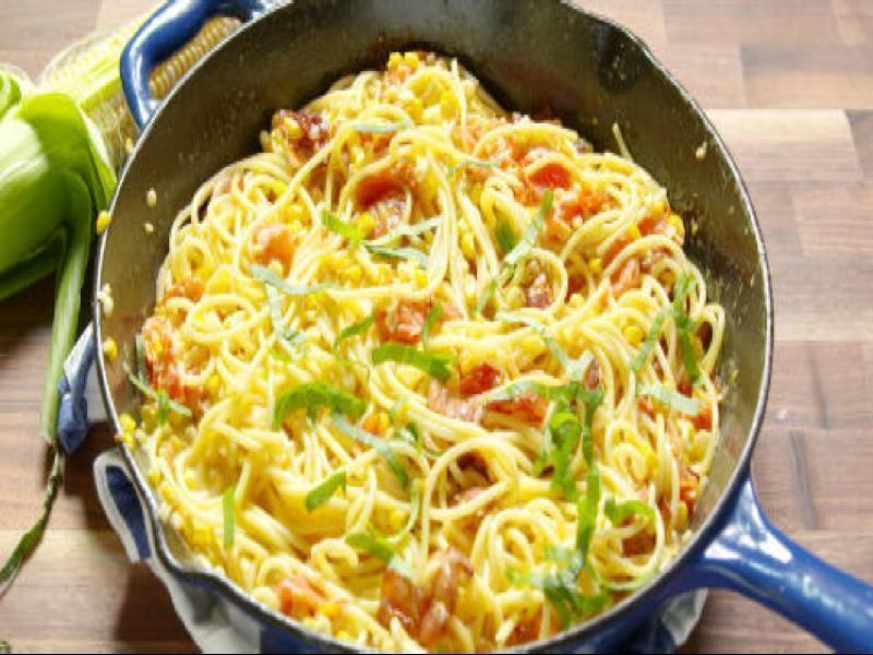 Bacon Corn Pasta Healthy Recipe