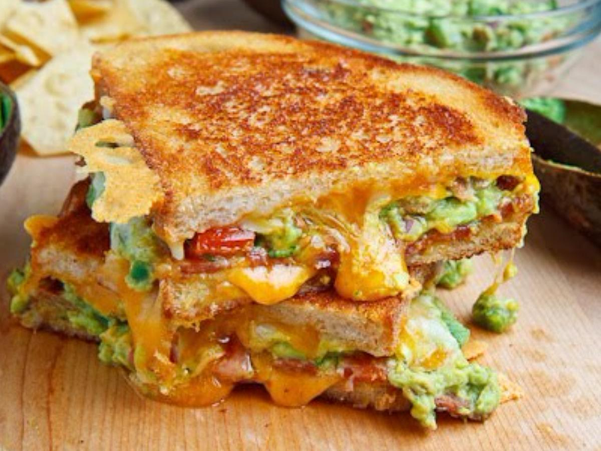 Bacon Guacamole Grilled Cheese Sandwich Healthy Recipe
