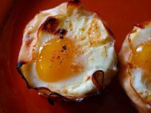 Baked Eggs in Ham Healthy Recipe
