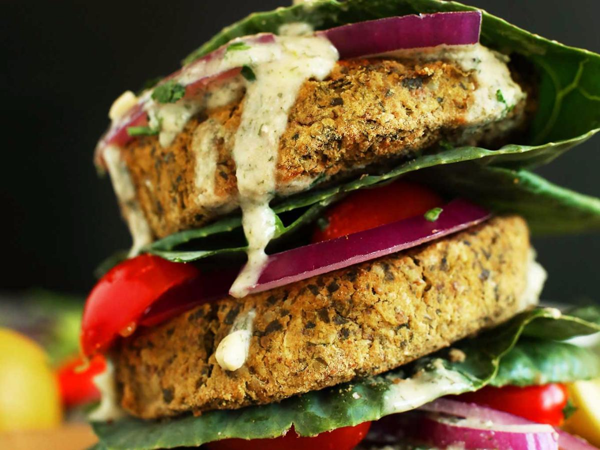 Baked Falafel Burgers Healthy Recipe