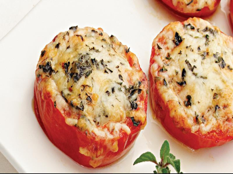 Baked Parmesan Tomatoes Healthy Recipe