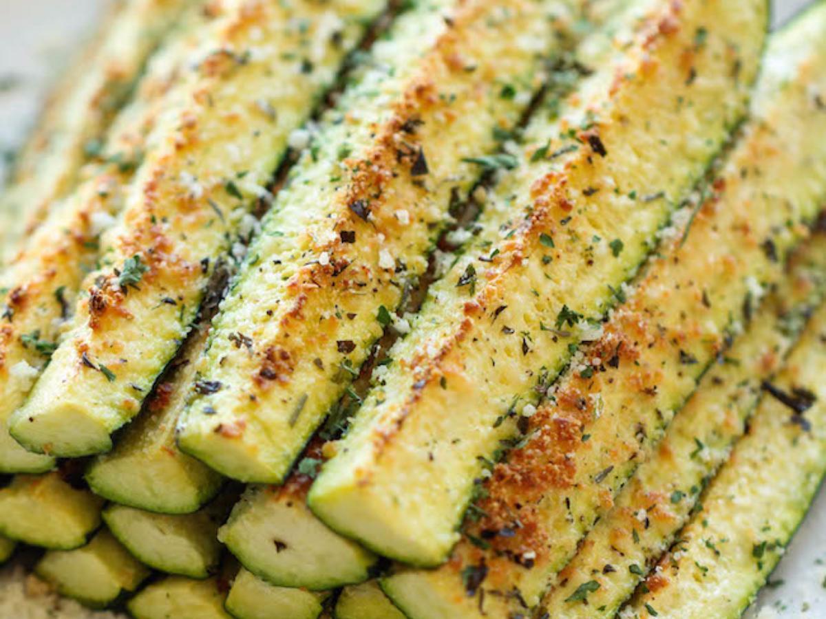 Baked Parmesian Zucchini Healthy Recipe