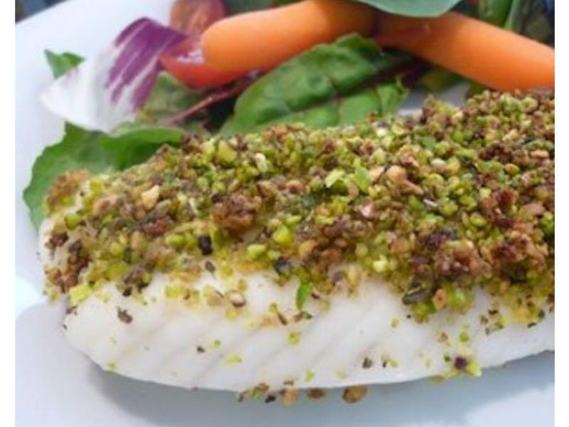 Baked Pistachio Crusted Tilapia  Healthy Recipe