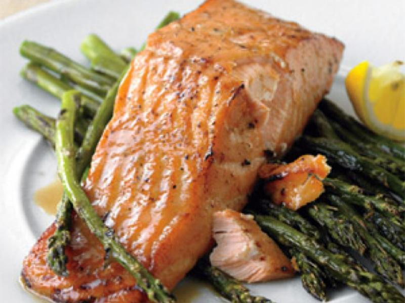 Baked Salmon and Asparagus Healthy Recipe