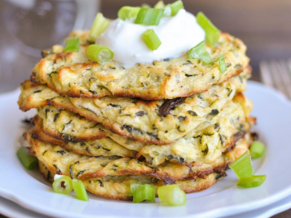 Baked Zucchini Fritters Healthy Recipe