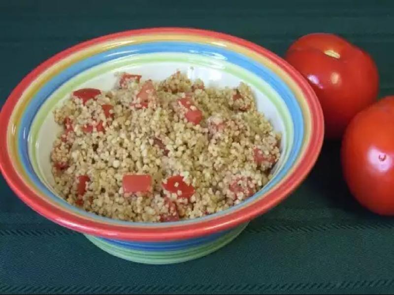 Balsamic Tomato Couscous Healthy Recipe