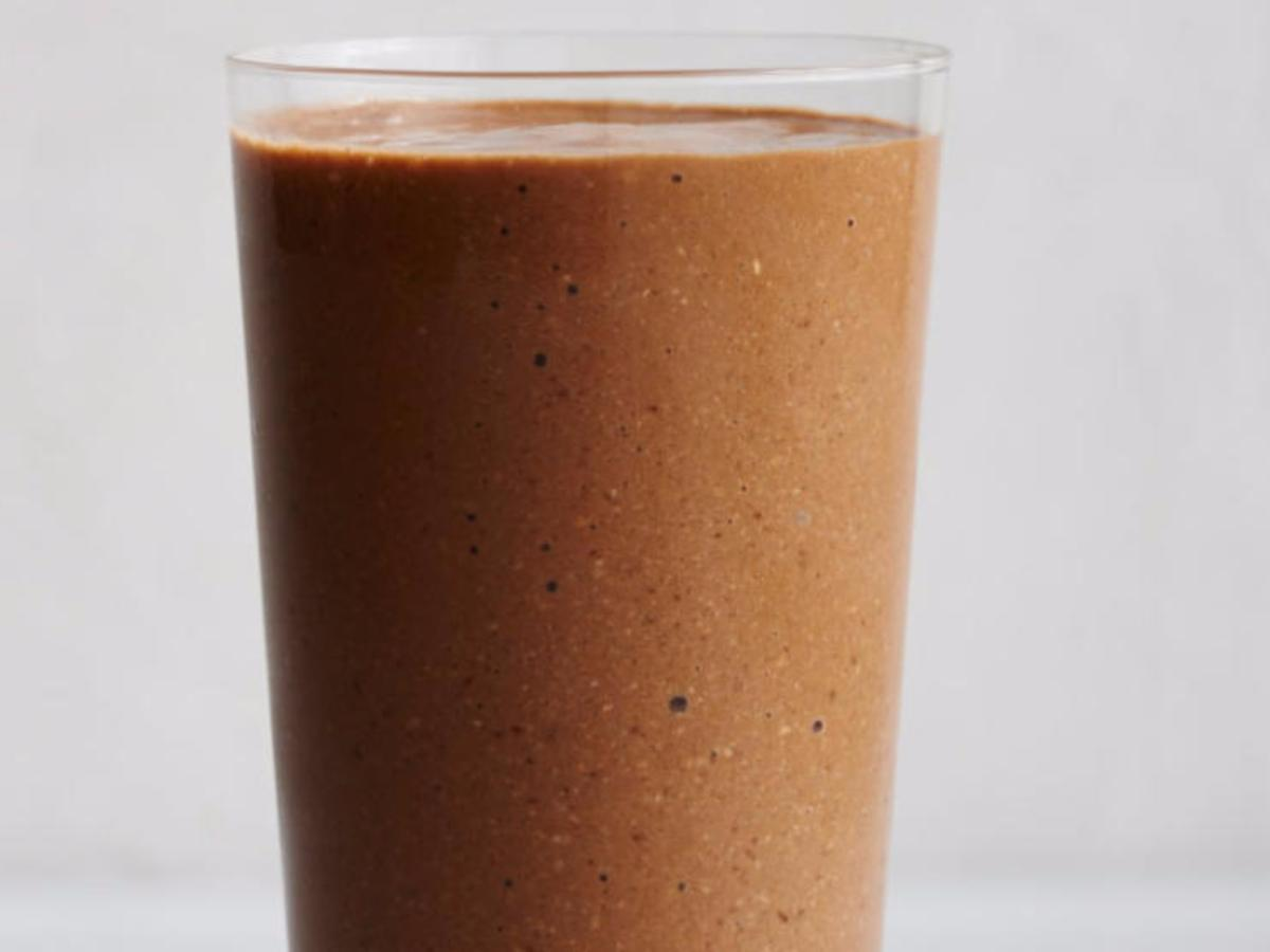 Banana, Coffee, Cashew, and Cocoa Smoothie Healthy Recipe