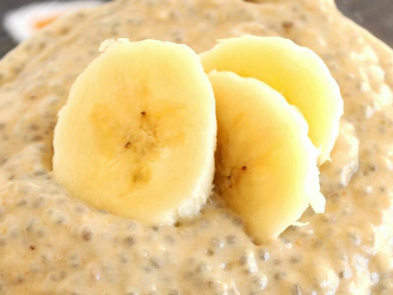 Banana Peanut Butter Chia Pudding Healthy Recipe