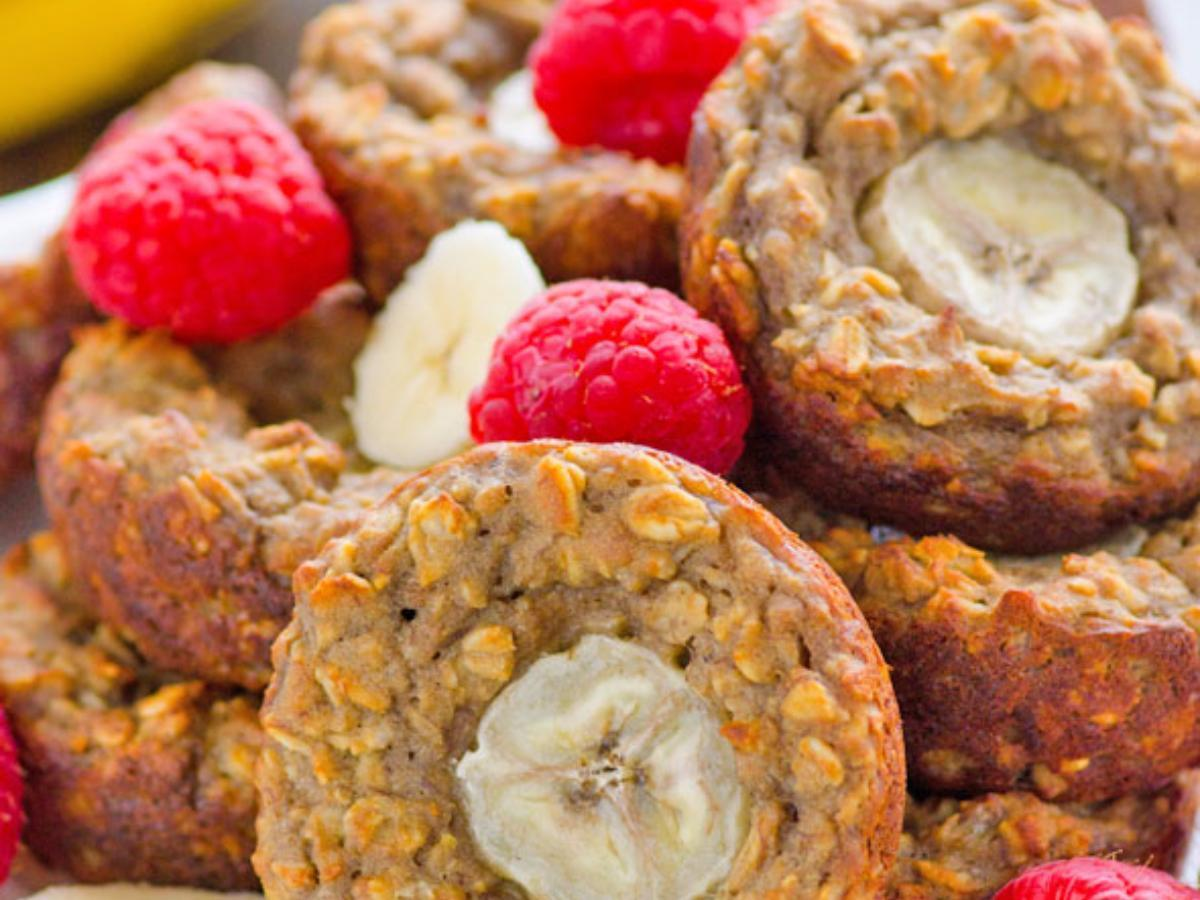 Banana Protein Baked Oatmeal Cup Healthy Recipe