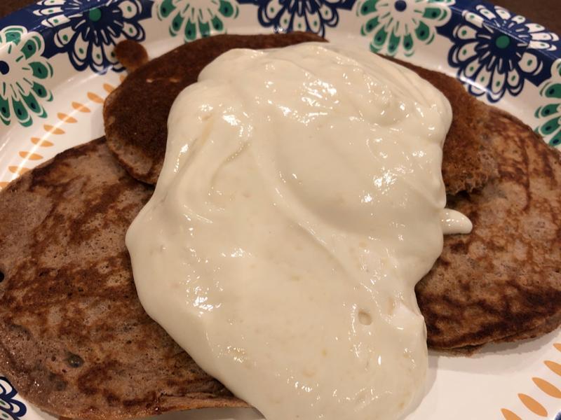Banana Protein Pancakes with Yogurt Glaze Healthy Recipe