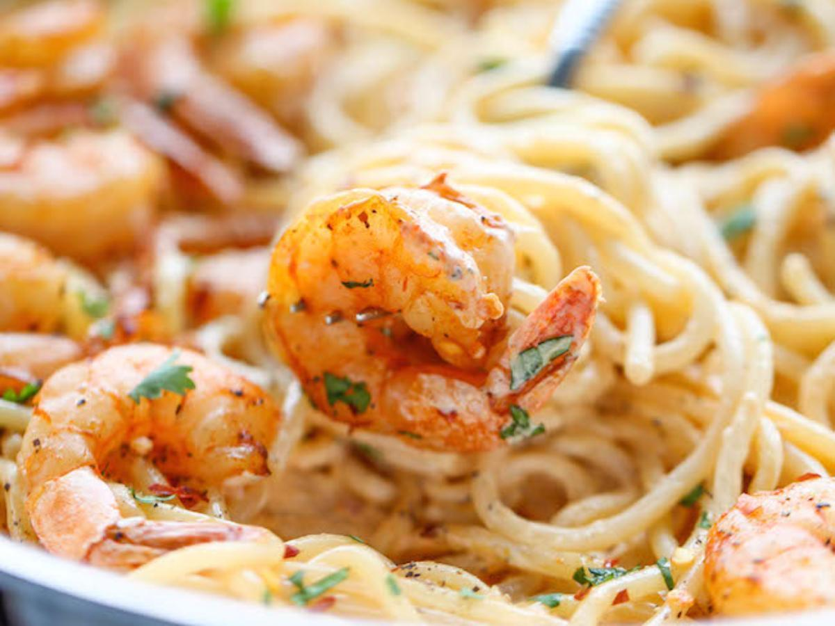 Bang Bang Shrimp Pasta Healthy Recipe