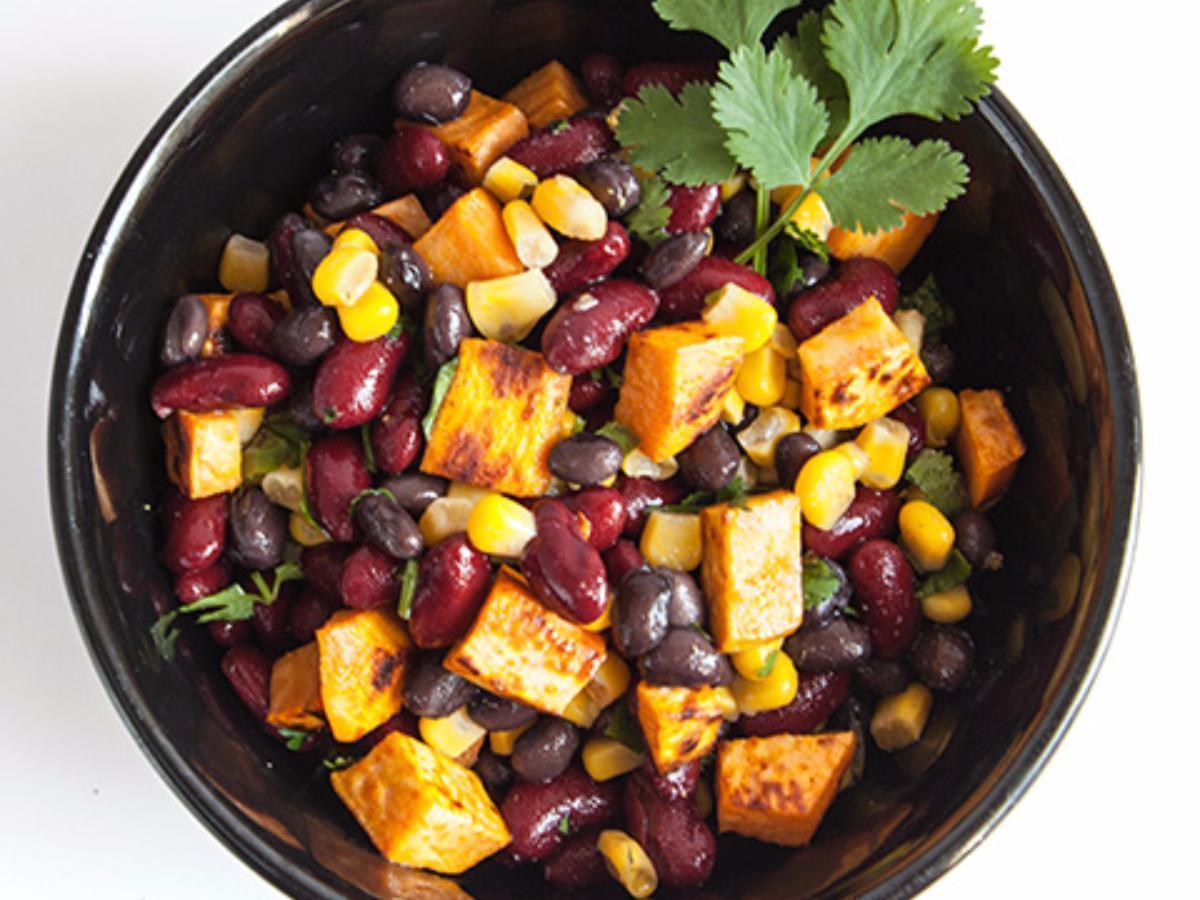 Bean and Sweet Potato Salad Healthy Recipe