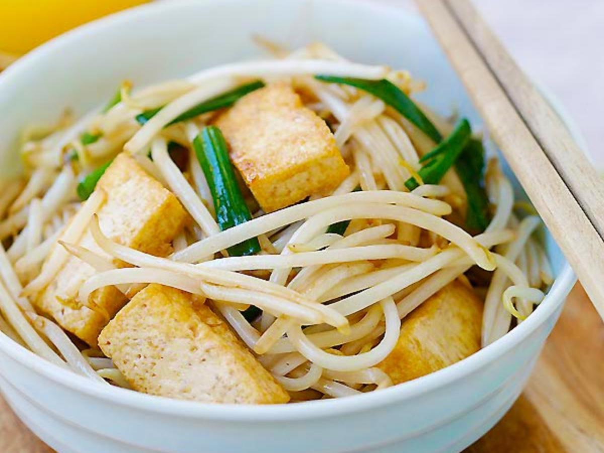 Bean Sprouts with Tofu Healthy Recipe