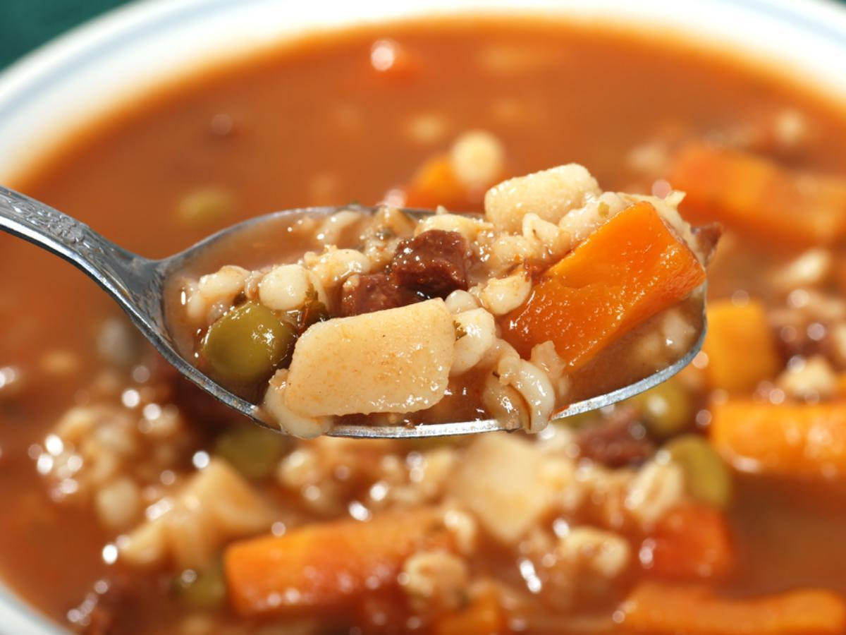 Beef and vegetable soup Healthy Recipe