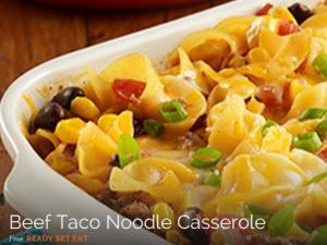 Beef Taco Noodle casserole Healthy Recipe
