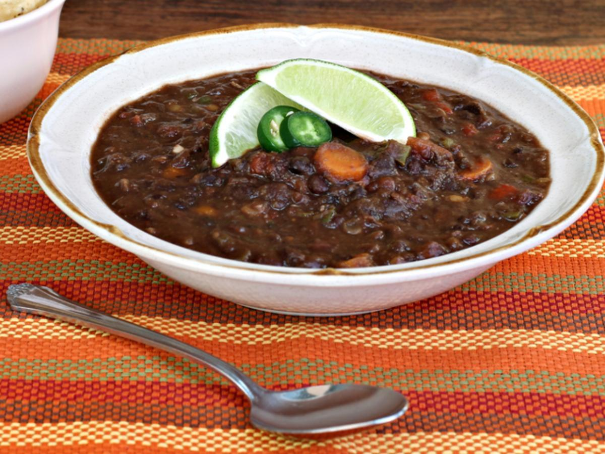 Black Bean Soup with Lime Healthy Recipe