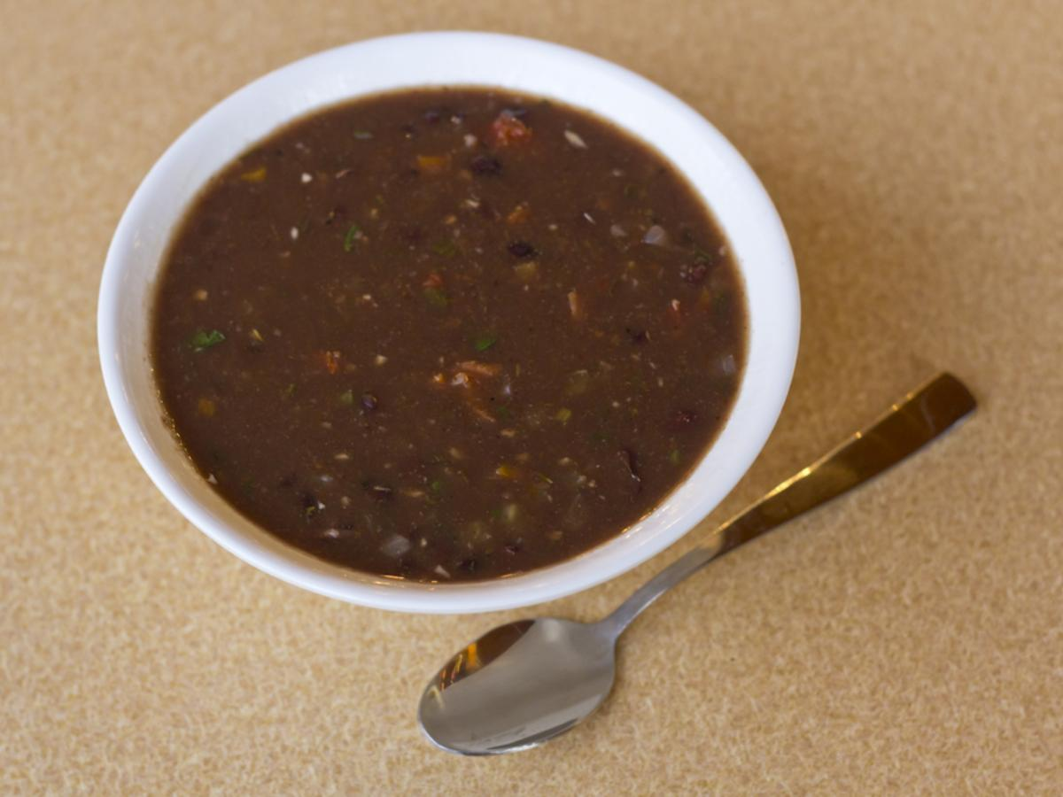 Black-Bean Soup with Sherry and Lime Healthy Recipe