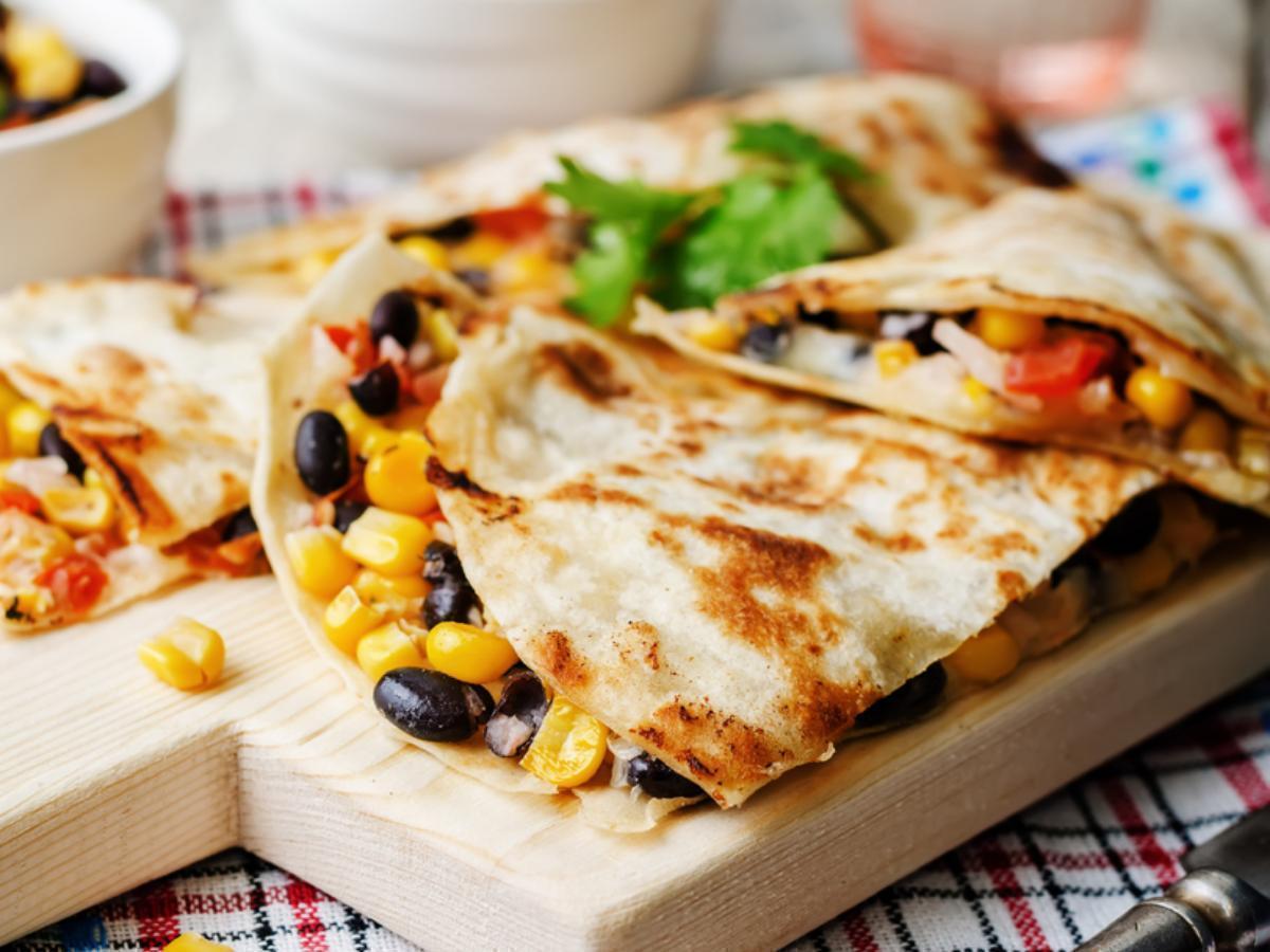 Black Bean Vegetarian Quesadillas Healthy Recipe