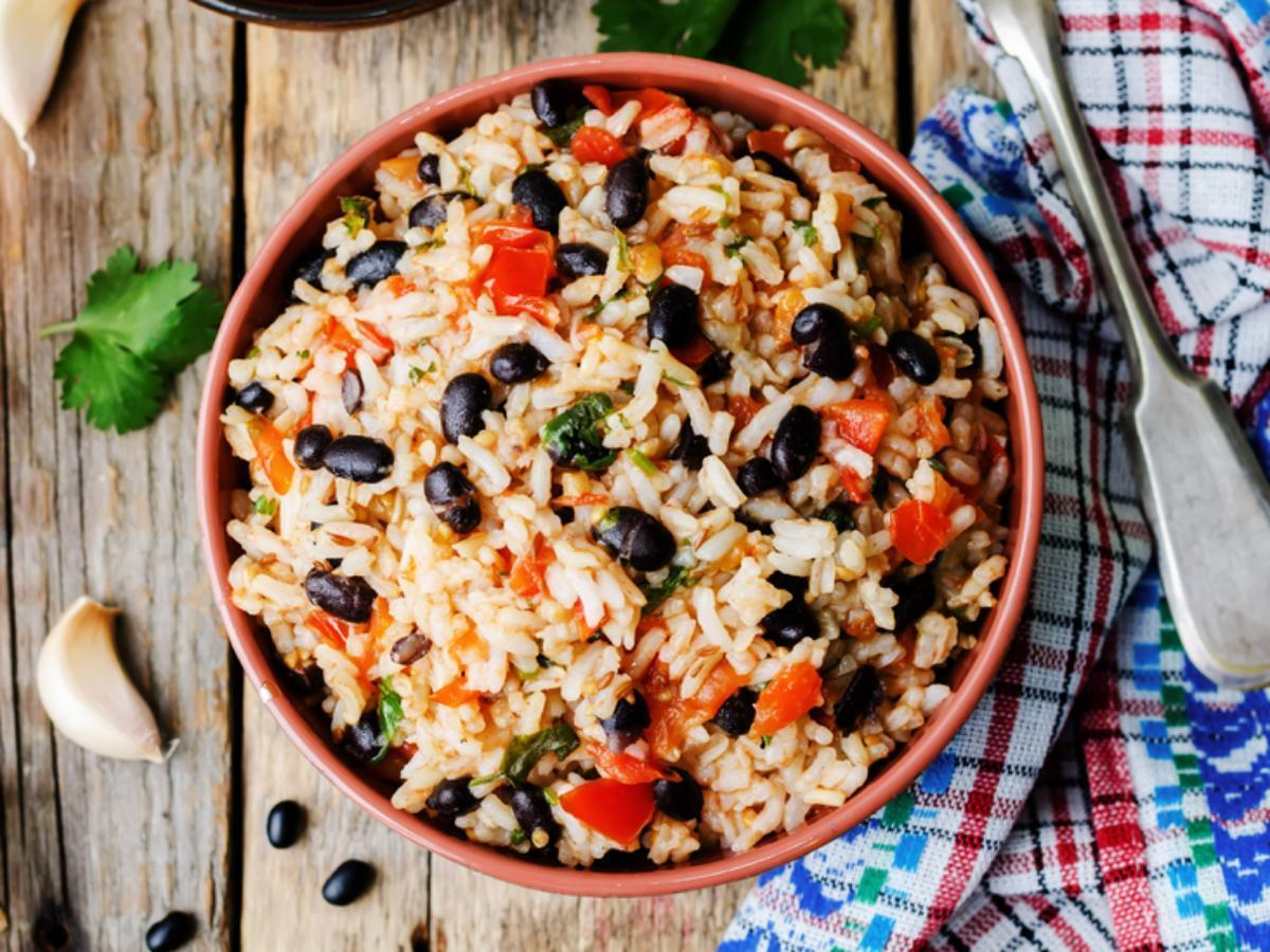 Black Beans and Veggies with Brown Rice Healthy Recipe