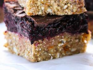 Blueberry Layer Snack Bars Healthy Recipe