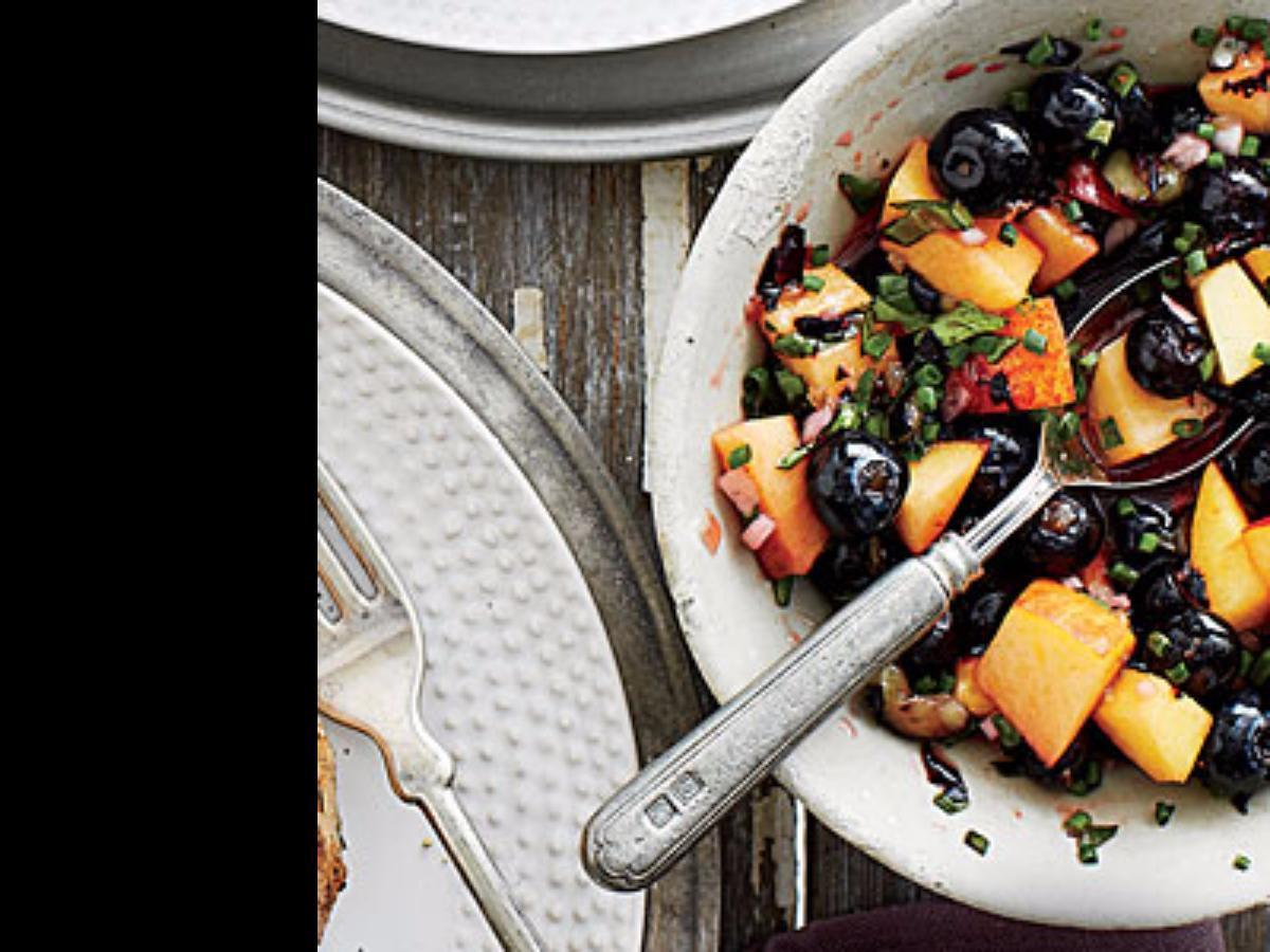 Blueberry-Peach Salsa Healthy Recipe