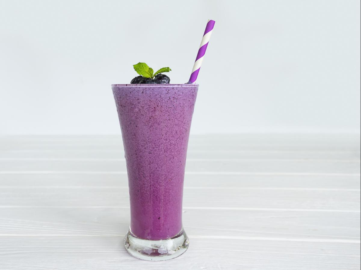 Blueberry Protein Kale Smoothie Healthy Recipe