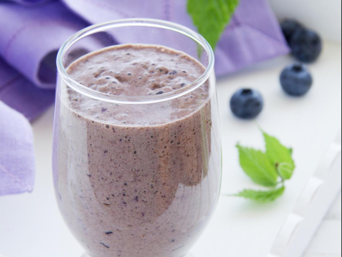 Blueberry Spinach Smoothie Healthy Recipe