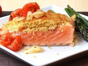 Breaded salmon Healthy Recipe