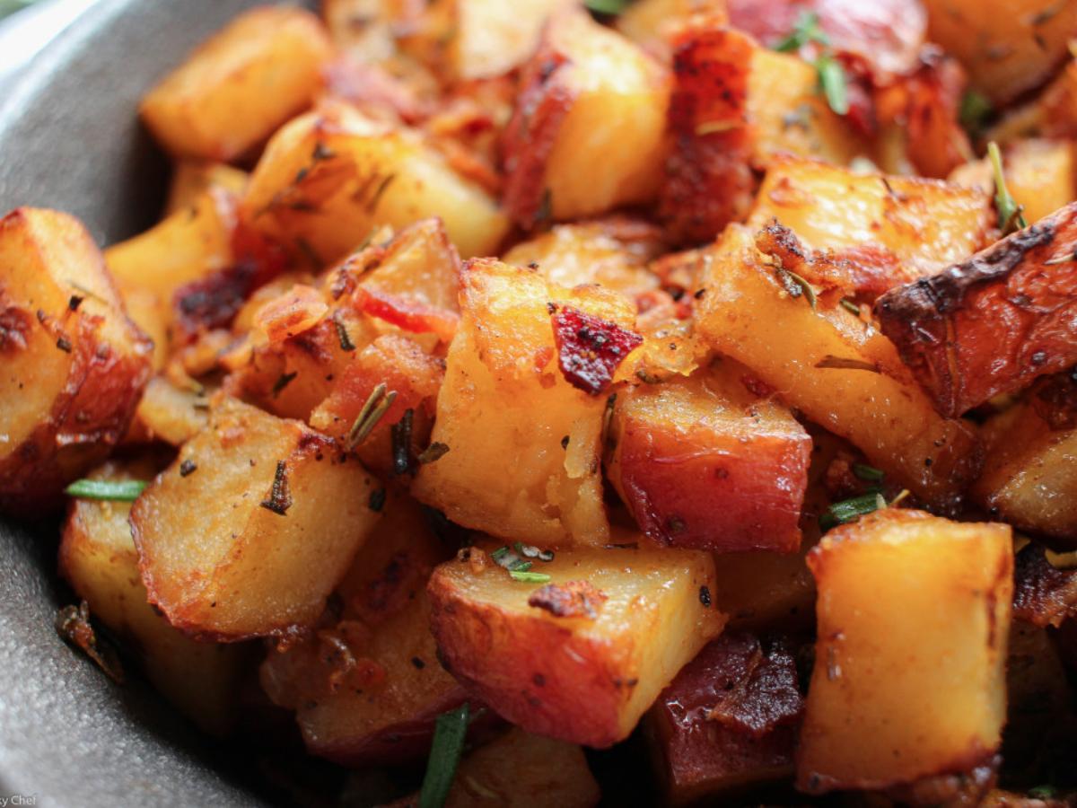 Breakfast Potatoes and Bacon Healthy Recipe