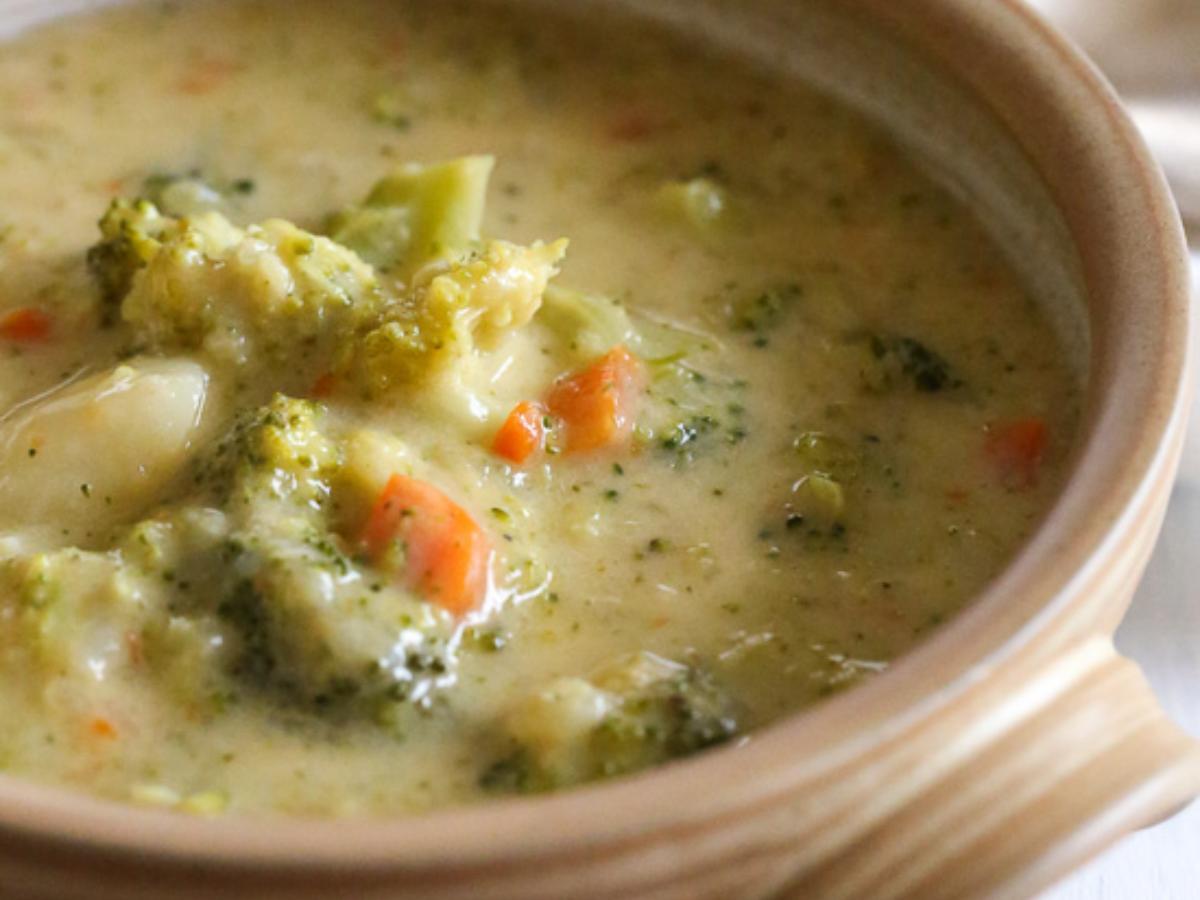 Broccoli, Cheese, and Potato Soup Healthy Recipe