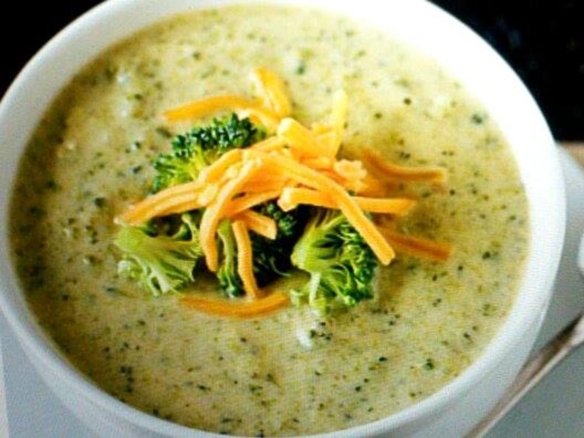 Broccoli Cheese Soup Healthy Recipe