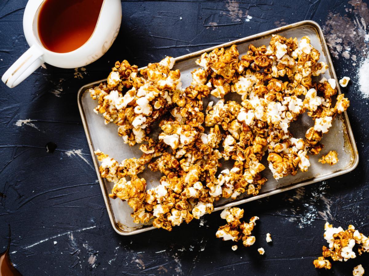 Buffalo Blue Cheese Popcorn Healthy Recipe