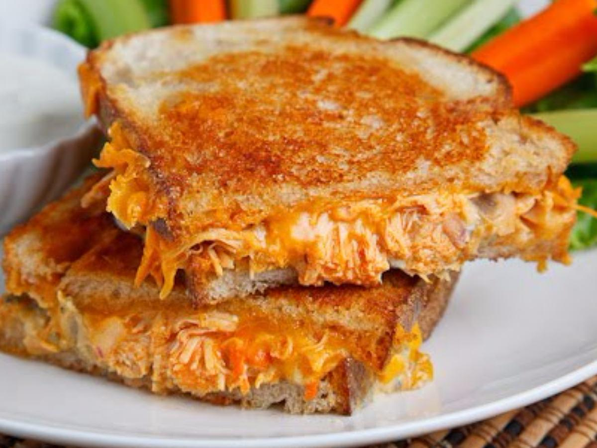 Buffalo Chicken Grilled Cheese Sandwich Healthy Recipe