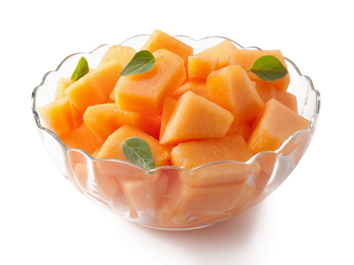 Cantaloupe Salad with Lime, Mint, and Ginger Healthy Recipe
